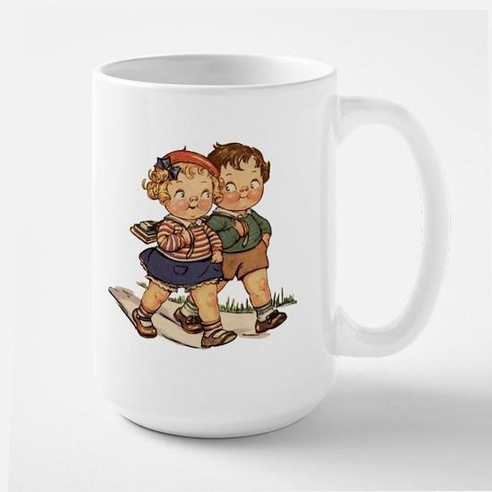 Kids Walking Large Mug