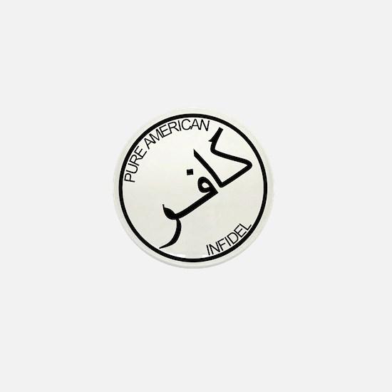 Pure Infidel (Black Logo) Mini Button