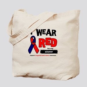 I wear red for my sister Tote Bag