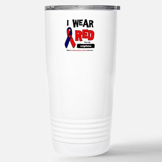 I wear red for my nephew Stainless Steel Travel Mu