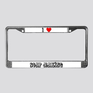 Heart Soapmaking License Plate Frame