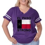 El Paso Strong Flag Women's Plus Size Football T-S