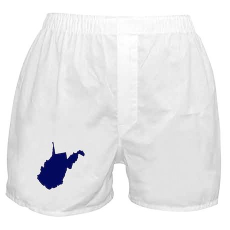 West Virginia - Blue Boxer Shorts