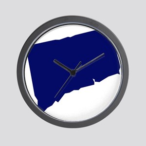 Connecticut - Blue Wall Clock