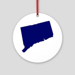 Connecticut - Blue Ornament (Round)