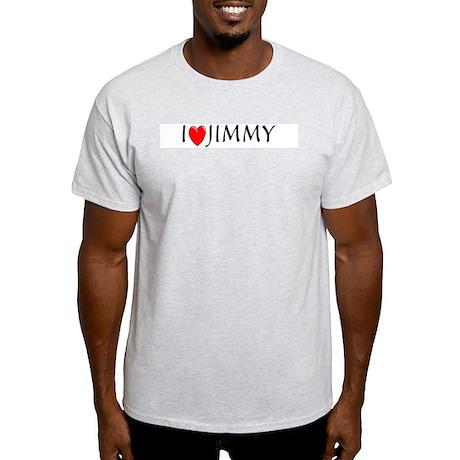 I Love Jimmy Ash Grey T-Shirt