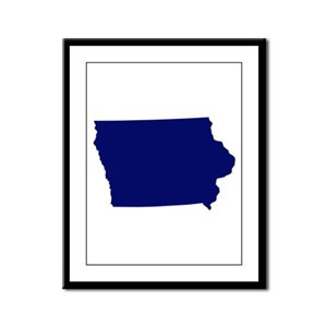 Iowa - Blue Framed Panel Print