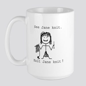 SEE JANE KNIT: Large Mug