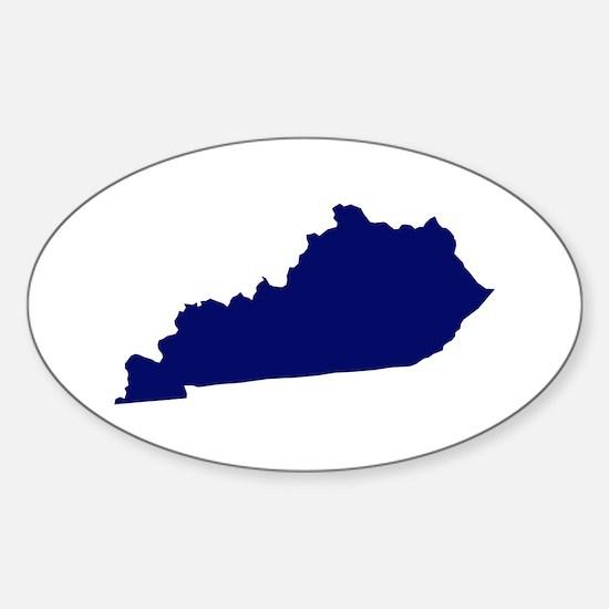 Kentucky - Blue Sticker (Oval)