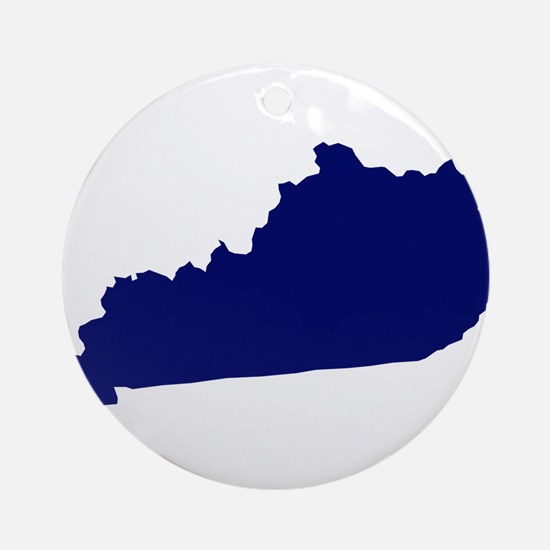 Kentucky - Blue Ornament (Round)