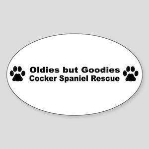 Oldies But Goodies Oval Sticker