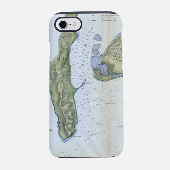 Vintage Map of San Diego & Cor iPhone 7 Tough Case