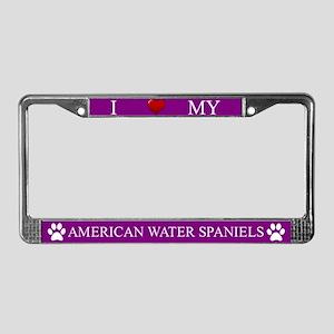 Purple I Love My American Water Spaniels Frame