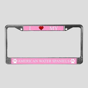 Pink I Love My American Water Spaniels Frame