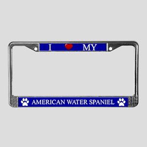Blue I Love My American Water Spaniel Frame