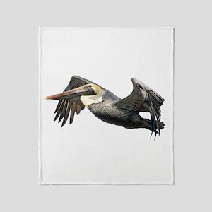 Pelican Flying Throw Blanket