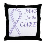 Violet Paws Cure Throw Pillow