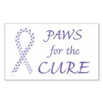 Violet Paws Cure Rectangle Sticker