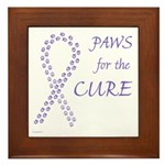 Violet Paws Cure Framed Tile