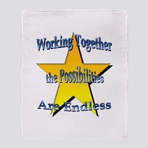 Possibilities Are Endless Throw Blanket