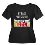 My Mask Protects You! Plus Size T-Shirt