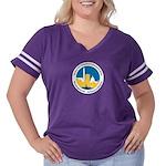 STC WDCB Women's Plus Size Football T-Shirt