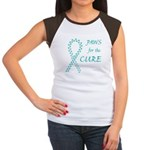 Teal Paws Cure Women's Cap Sleeve T-Shirt