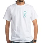 Teal Paws Cure White T-Shirt