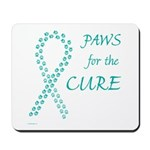 Teal Paws Cure Mousepad