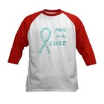 Teal Paws Cure Kids Baseball Jersey