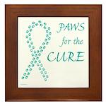 Teal Paws Cure Framed Tile