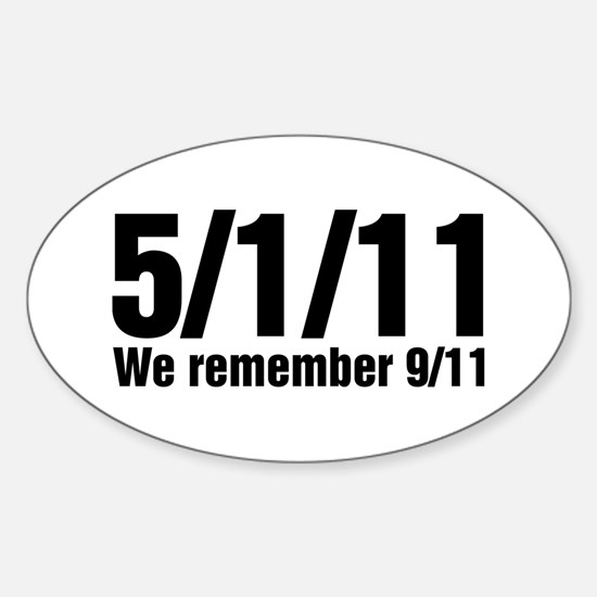 We Remember 9/11 Sticker (Oval)