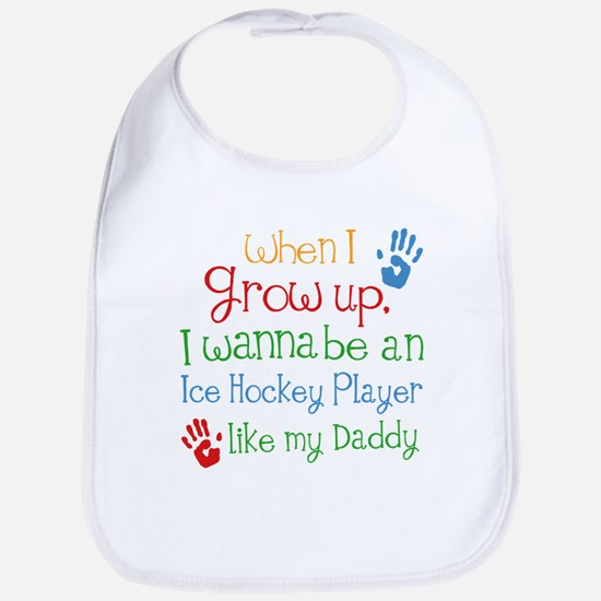 Ice Hockey Player Like Daddy Baby Bib