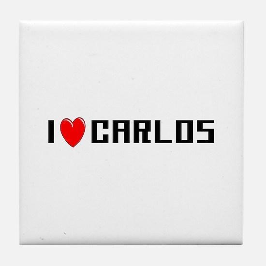 I Love Carlos Tile Coaster