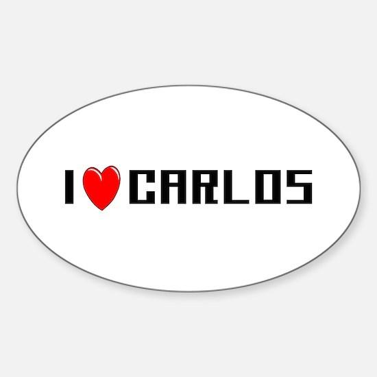 I Love Carlos Oval Decal