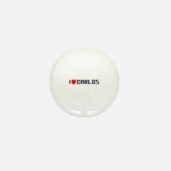 I Love Carlos Mini Button