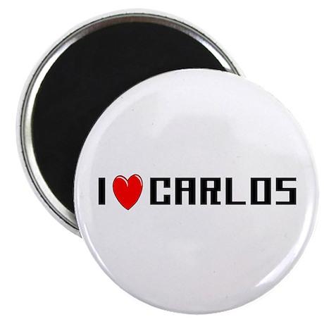 I Love Carlos Magnet