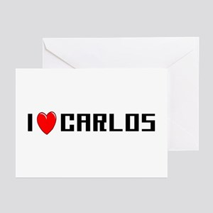I Love Carlos Greeting Cards (Pk of 10)