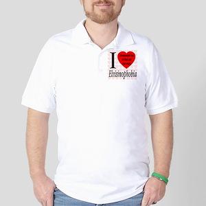 I Love Elvisinophobia (TM) Golf Shirt