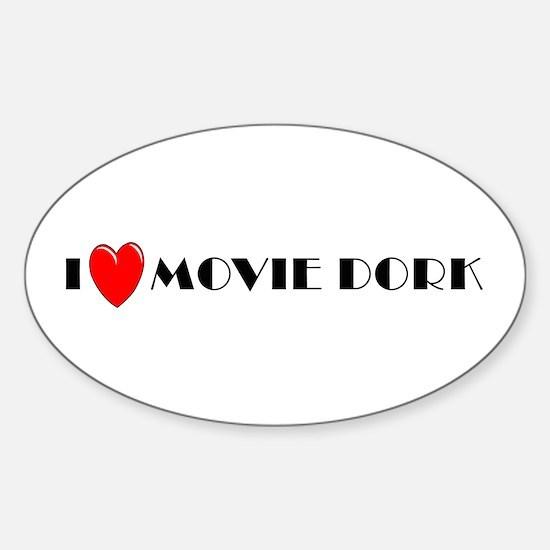 I Love Movie Dork Oval Decal