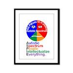 Autistic Spectrum Framed Panel Print