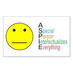 Autistic Spectrum Sticker (Rectangle 50 pk)