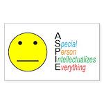 Autistic Spectrum Sticker (Rectangle 10 pk)