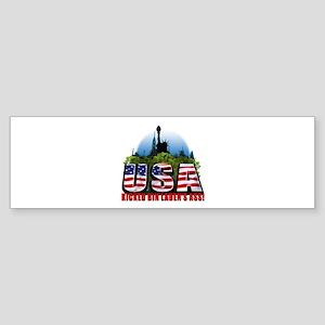 USA Kicked Bin Laden's Ass! Sticker (Bumper)
