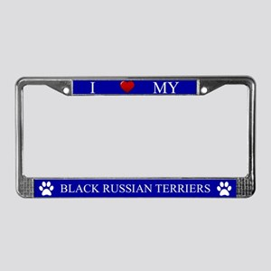 Blue I Love My Black Russian Terriers Frame