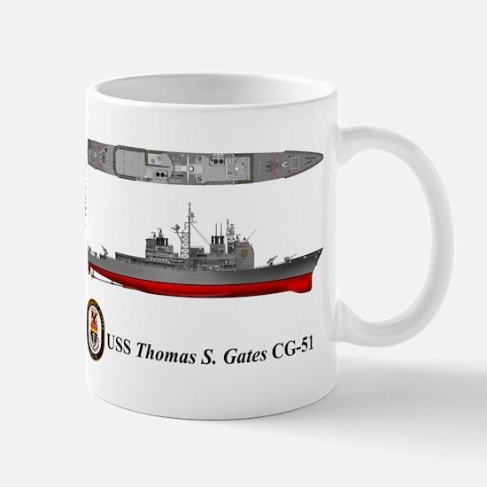 USS Thomas S. Gates CG-51 Mug