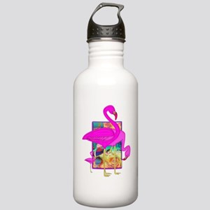 Family of Pink Flamingos Stainless Water Bottle 1.
