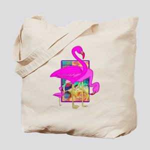 Family of Pink Flamingos Tote Bag