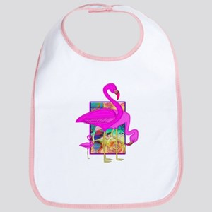 Family of Pink Flamingos Bib
