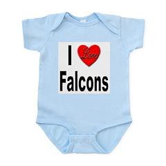 I Love Falcons Infant Creeper